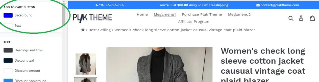 add to cart text background color