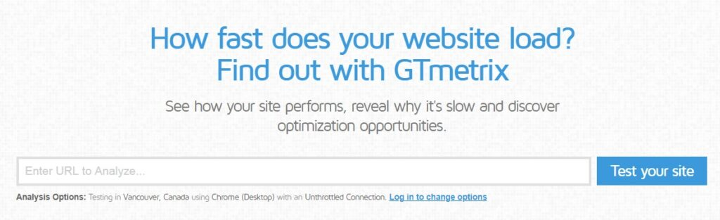 gtmetrix speed tool