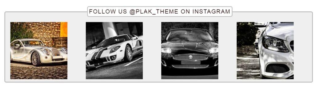 Instagram feed Plak theme