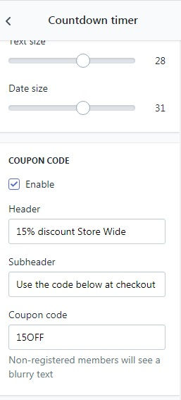 How to use blurry coupon feature?