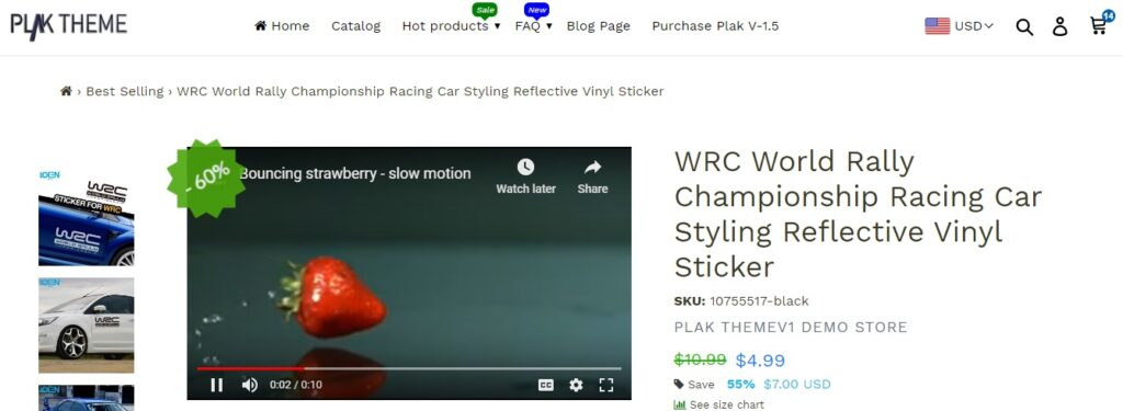 How to Add video Media to product page