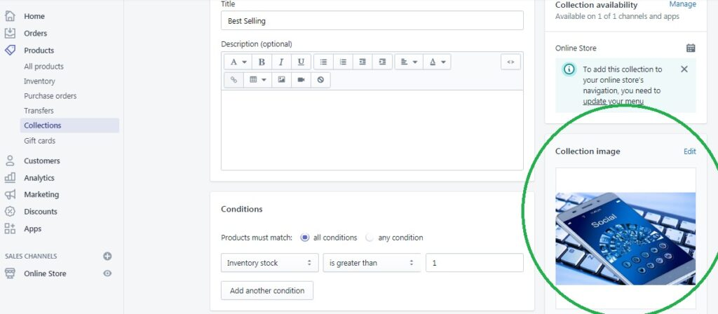 How to setup collection page in Plak Theme